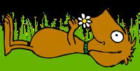 entspannter Hund